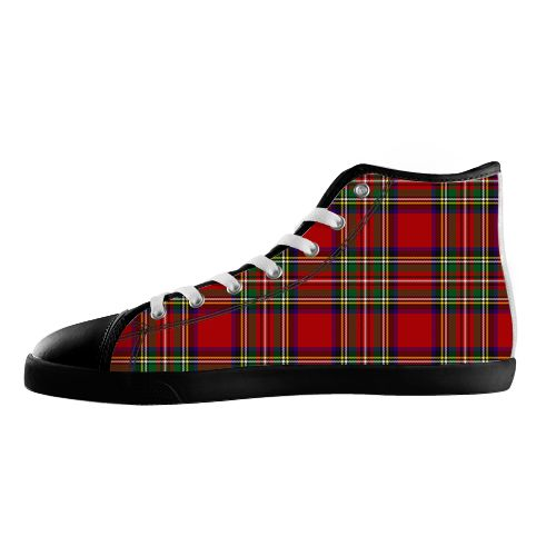 Royal Stewart Shoes - Available Here: http://www.customdropshipping.com/personalized-design/personalized/royal-stewart-black-high-top-canvas-shoes-model002-women-47257
