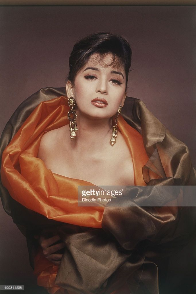 1992, Portrait of Madhuri Dixit.
