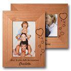 Cadre photo en bois grav�