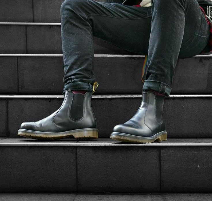 Sztyblety Dr Martens 2976 Black Smooth 22227001 Boots Outfit Men Chelsea Boots Outfit Black Leather Chelsea Boots