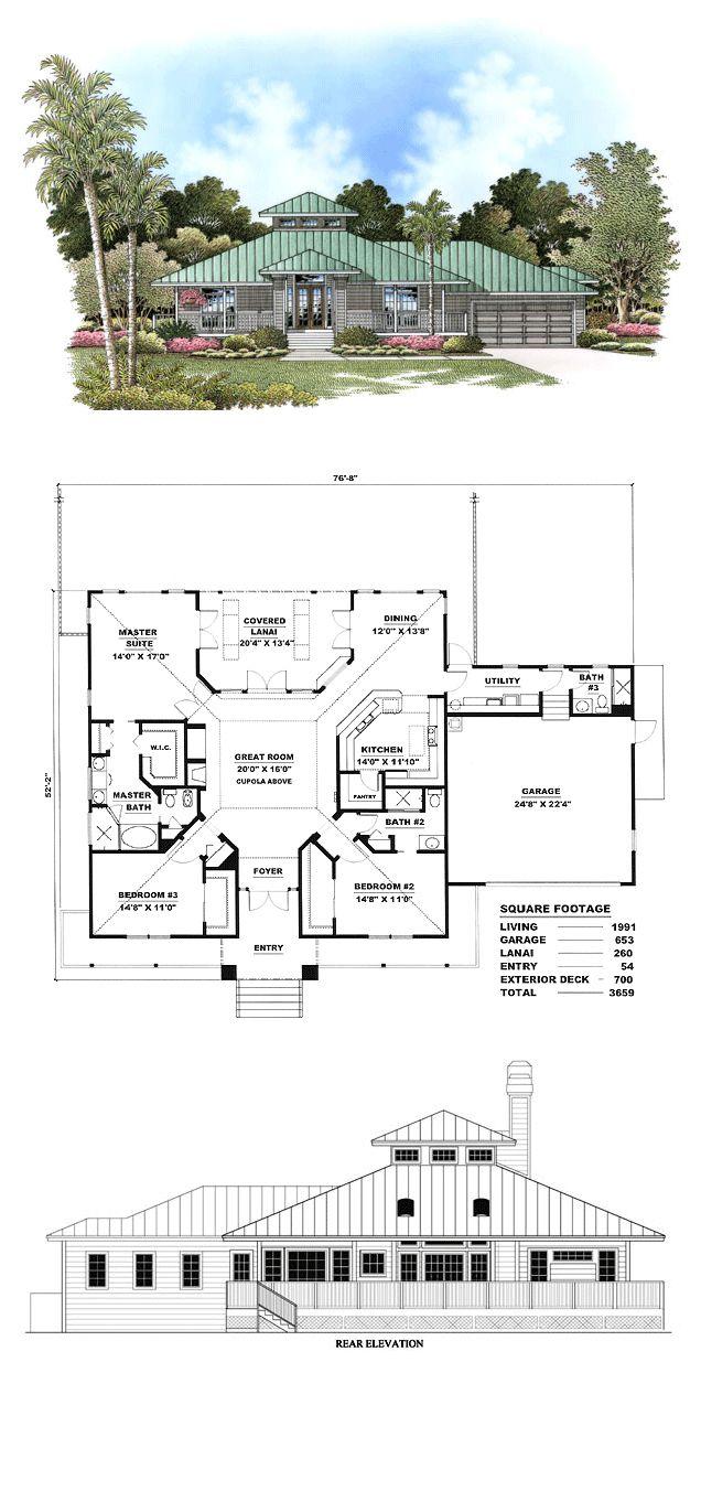 16 best florida cracker house plans images on pinterest for Florida cracker style house plans