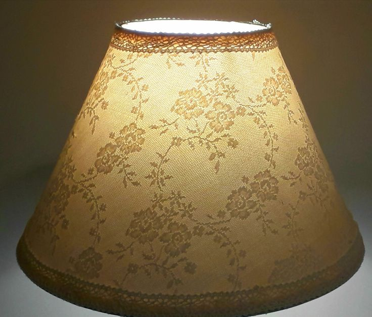 Floral lace lampshade