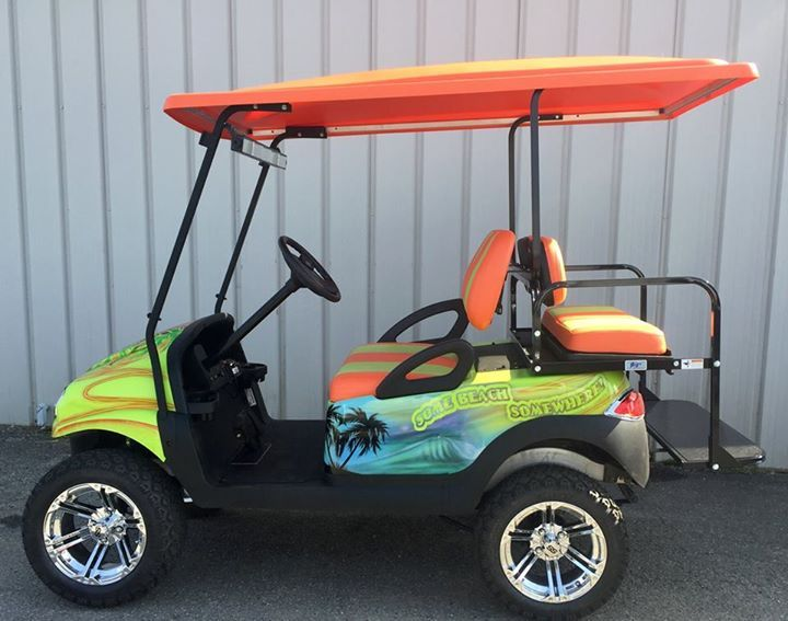 margarita theme custom golf car