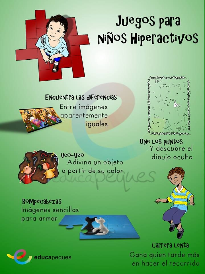 Infografías Juegos Para Niños Hiperactivos Niño