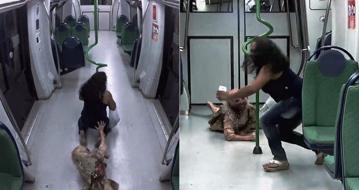 É notícia: Pegadinha do Zumbi no Metrô de Silvio Santos é suc...