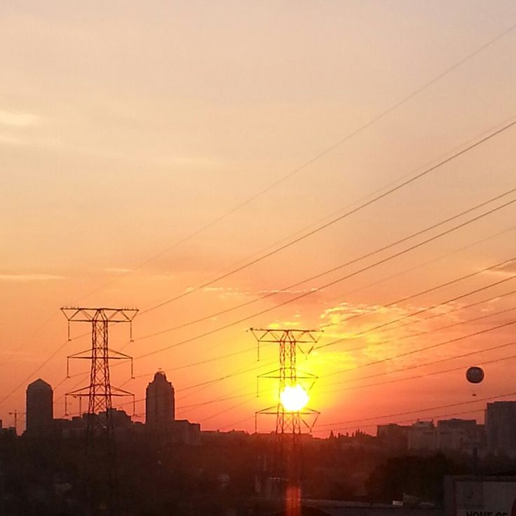 Typical Johannesburg sunset