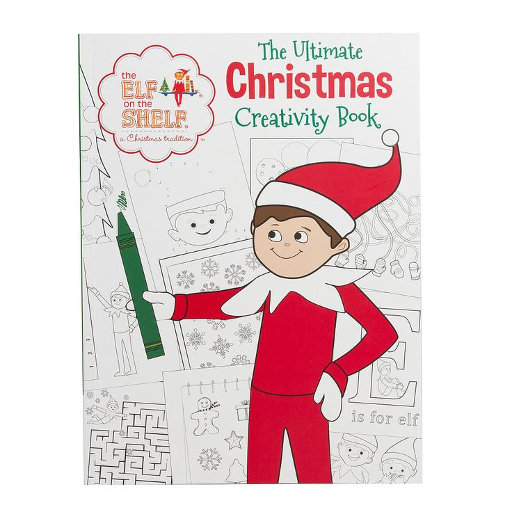Item Perfect For Hours Of Fun At Home Or On The Go Elf Shelf Ultimate Christmas Creativity Book Is Packed With Coloring Pages Doodle