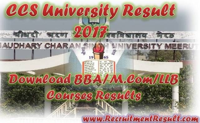 Check Here CCS University Result, since Chaudhary Charan Singh University has released outcome for all those who've appeared in CCS University academic Exam. With the help of this page, candidate who are waiting for their CCSU Merit List may get download their result for BBA/M.Com/LLB Courses by going through this page.