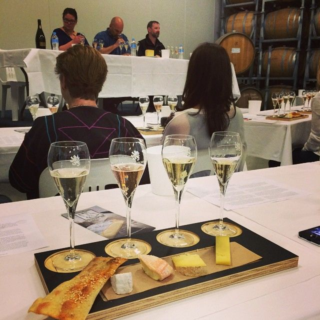 Cheese and #tassiebubbles masterclass with Bruny Island cheese at Effervescence Tasmania josefchromywines's photo on Instagram