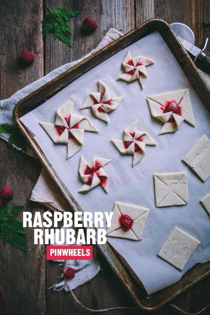 raspberry rhubarb pinwheels | designlovefest