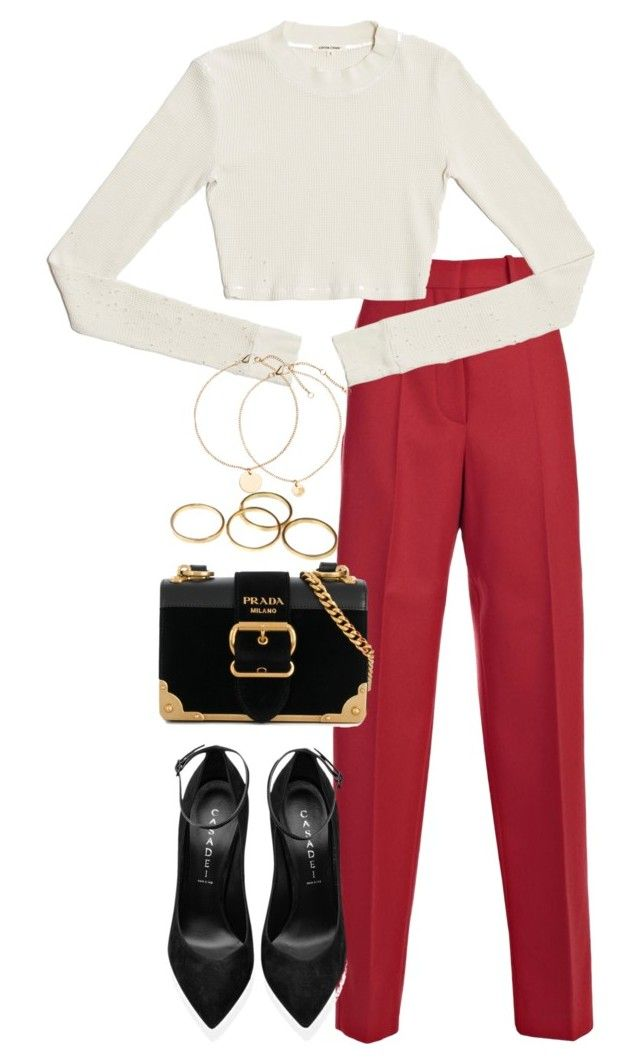 Untitled #4869 by theeuropeancloset on Polyvore featuring polyvore, fashion, style, CÉLINE, Casadei, Prada and clothing