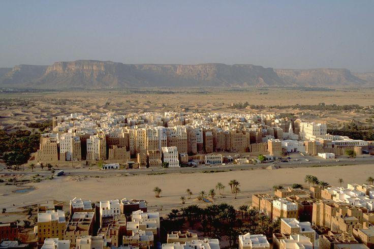 Panorama of spectacular Shibam, Wadi Hadramaut, South Yemen