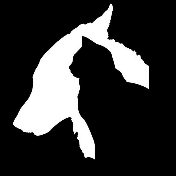 Cat And Dog Silhouette Car Decal Dog Silhouette