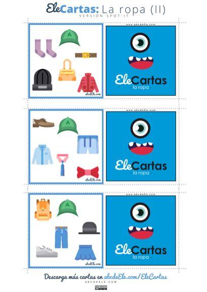 Nueva baraja de #EleCartas: la ropa   http://abcdeele.com/elecartaslaropa/   ¡Comparte la entrada y/o etiqueta para que todos puedan descargarlas!