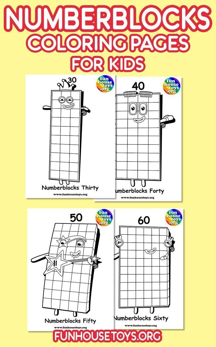 Numberblocks Printables In 2020 Cool Coloring Pages Fun Printables For Kids Coloring Pages For Kids