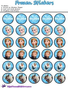 Frozen Printable stickers | Free Printables for the Disney Movie Frozen | SKGaleana