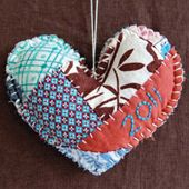 New Year Tradition- Take items that kids have outgrown-sew together then cut into a heart. Sew the year & there's your new ornament for your tree!!