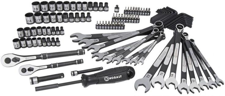 Kobalt Universal 115-Piece Standard (SAE) and Metric Mechanics Tool Set with