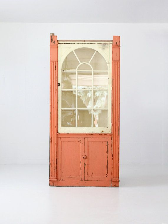 Antique corner cabinet, painted china cabinet, primitive cupboard - Best 25+ Antique Corner Cabinet Ideas On Pinterest Crown