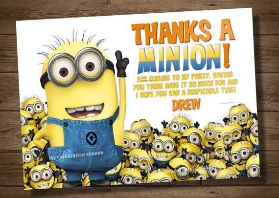 232 best minion birthday party images on pinterest despicable me despicable me party thanks a minion toneelgroepblik Image collections