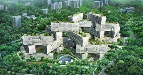 Концепция жилого района в сингапуре