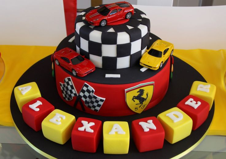 Ferrari birthday cake