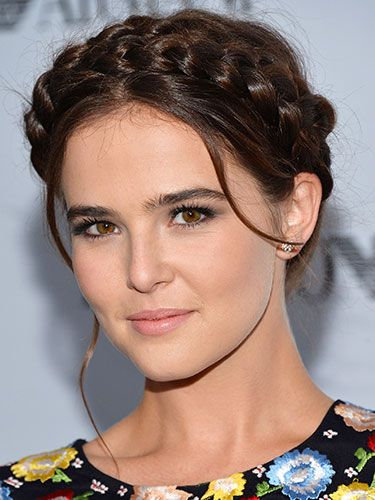 Zoey Deutch's braided style