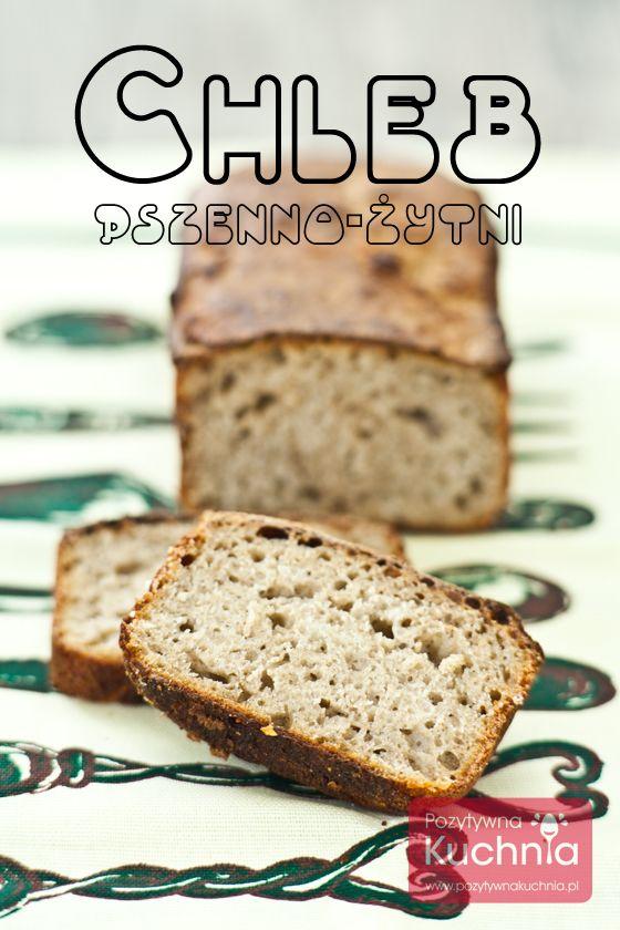 #Chleb pszenno-żytni, domowy, wyrastający na zakwasie.  http://pozytywnakuchnia.pl/chleb-pszenno-zytni/  #przepis #kuchnia #pieczywo