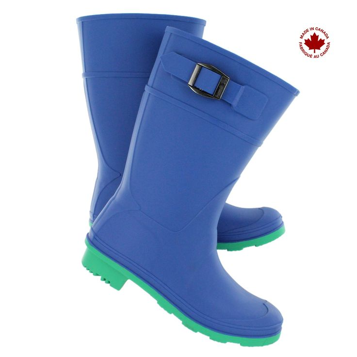 Kamik Kids' RAINDROPS blue waterproof rain boots RAINDROPS BLU