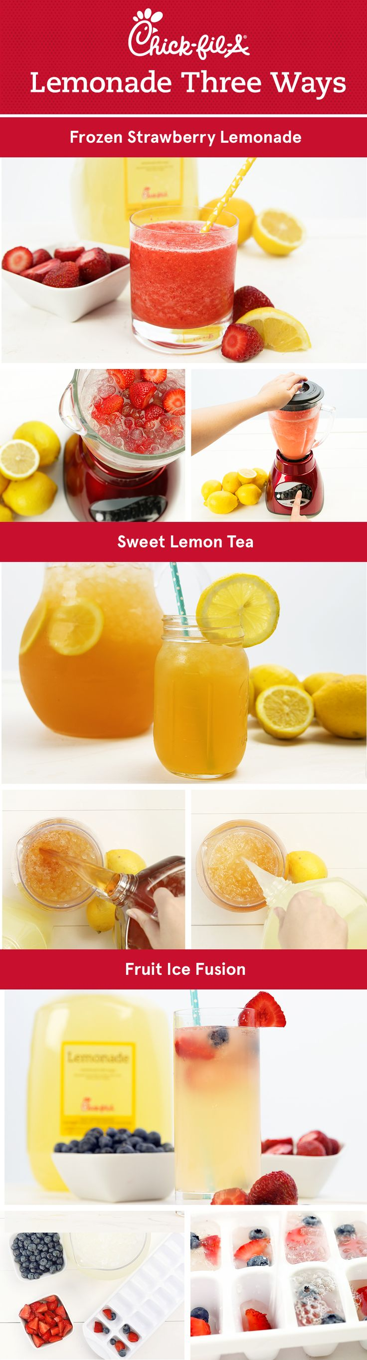Sweeten up your summer with these tasty twists on our Chick-fil-A Lemonade and Sweet Tea.