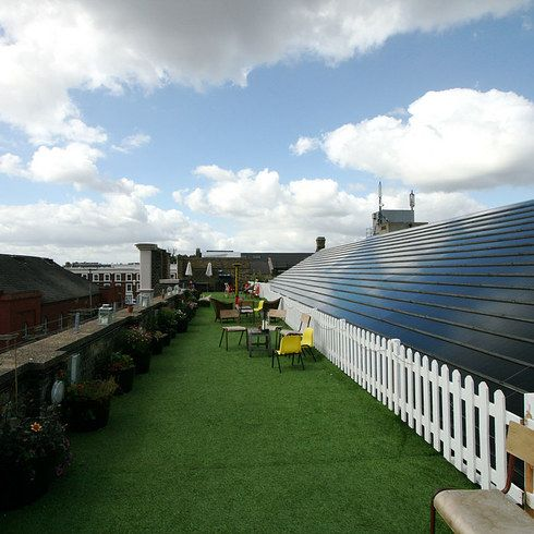 Soak up the sun at Dalston Roof Park | 21 Cheap Date Ideas In London