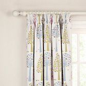 John Lewis Magic Trees Blackout Lined Pencil Pleat Curtains, Multi