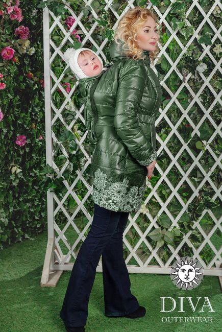 Babywearing Coat (fall / spring), Back carry is a medium warm lightweight coat that meets all your babywearing needs. Free shipping!