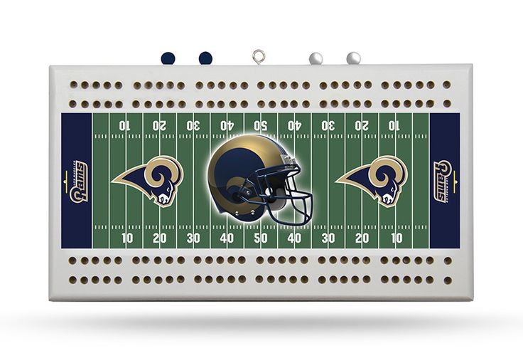 NFL Los Angeles Rams Field Cribbage Board