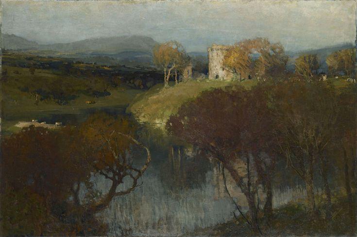James Paterson - 160 Le château enchanté en Ecosse - Замок Мортон в Шотландии (Волшебный замок в Шотландии) - 1896 - 123x184,5 - Provenance? 1898/99 Bing ? - cat.1913, 146 - inv. Pouchkine J 3315
