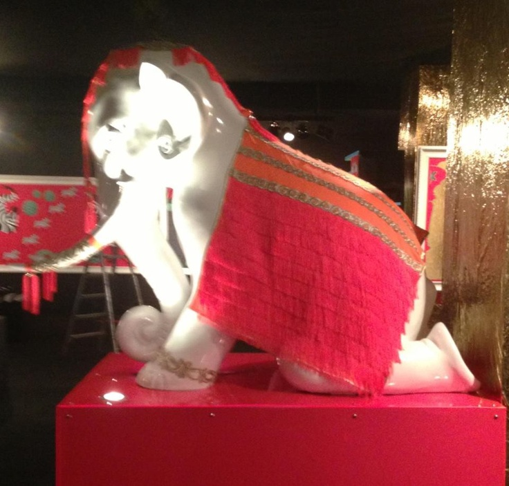 Mimi- the go go gal elephant sculpture, from the illustratti collection. Raseel gujral design.