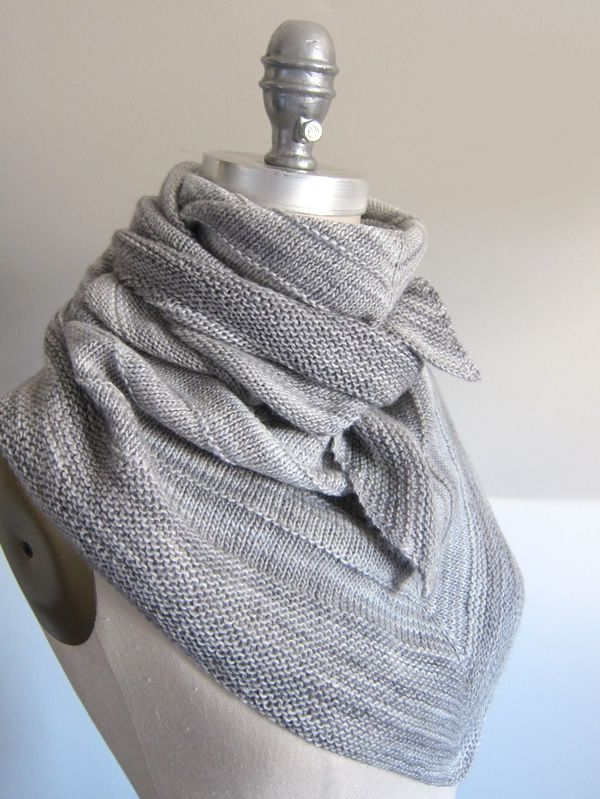 The Boneyard Shawl by Stephen West is the simplest of triangle shawls featuring repeated sections of garter and stockinette stitch