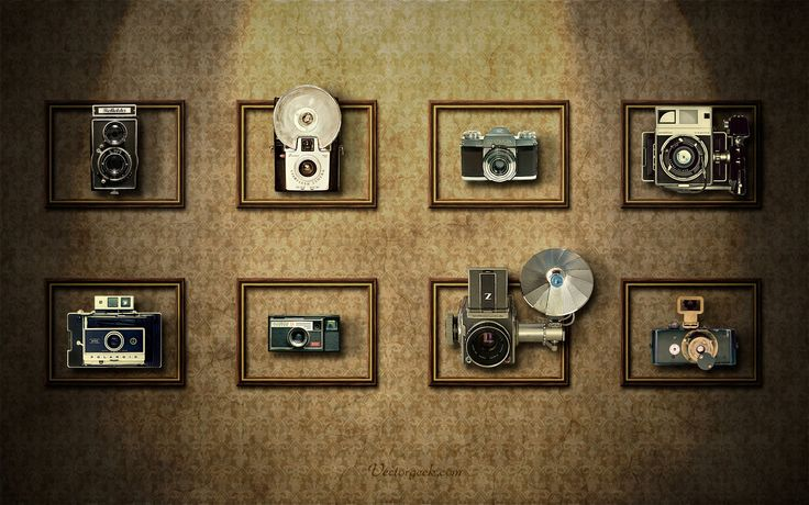 Vintage Camera Wall by vectorgeek on DeviantArt