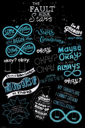 The Fault in our Stars -Typography - Planscher på AllPosters.se