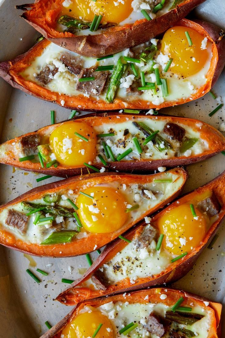 With some help from Pete and Gerry's organic eggs we put some leftovers to good use (which can be tough sometimes) with our Twice Baked Steak + Egg Sweet Potatoes! #believeinwhatyoubuy #ad http://www.spoonforkbacon.com/2018/01/twice-baked-steak-and-egg-sweet-potatoes/