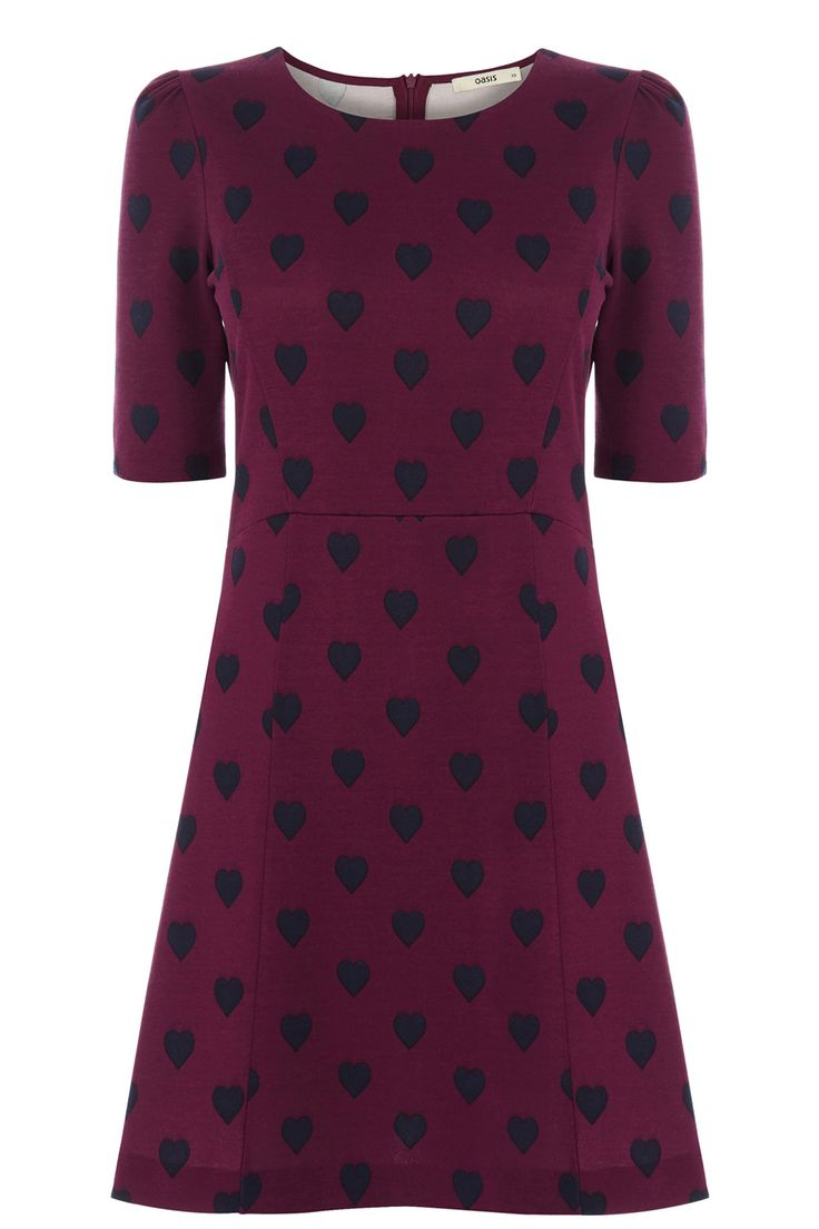 The Holly Heart Dress | Multi | Oasis Stores