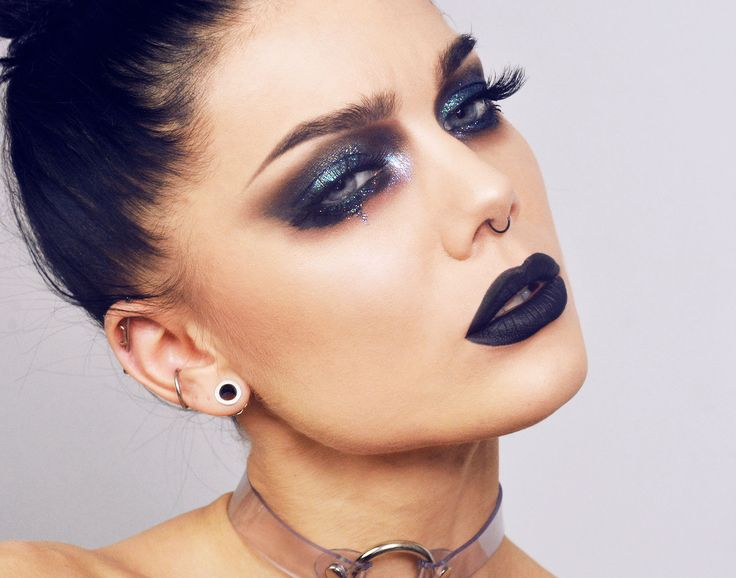 """Glittery Mess"" - by: Linda Hallberg >> beautifully gothic makeup! <3  ... #Gothic; #Halloween; #Makeup"