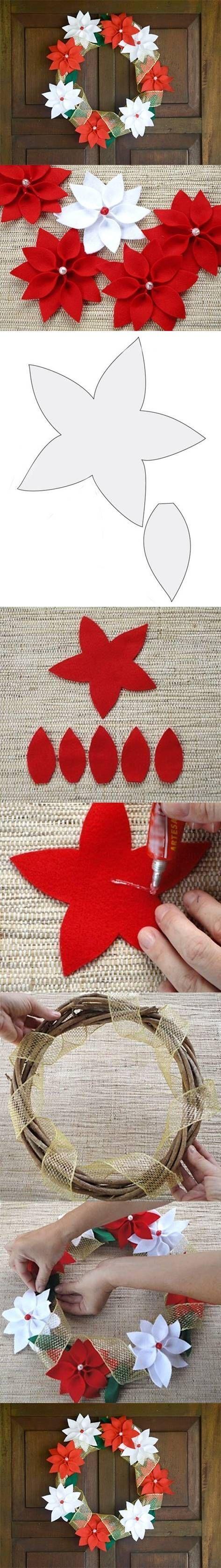 DIY Felt Christmas Wreath DIY Projects | UsefulDIY.com Follow Us on Facebook == http://www.facebook.com/UsefulDiy: