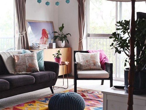 Boho inspired apartment of Jade Goulding || Styleandspace.  #pocketofmyhome #myhome #livingroom #interiorstyle