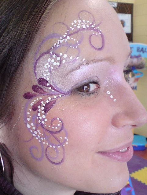 Beautiful eye face paint in purples For when they ask for lilac...