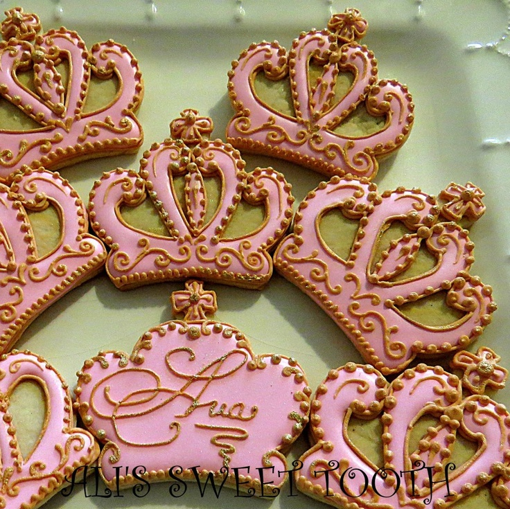 decorated cookies - tiaras fit for a princess