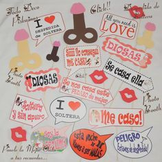 photo booth carteles para fotos despedida de soltera                                                                                                                                                                                 Más