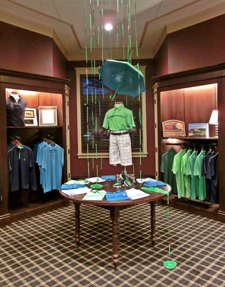 Junior/Kids Back to School Display. Golf Display. Fountain Head Country Club. Hagerstown, Maryland