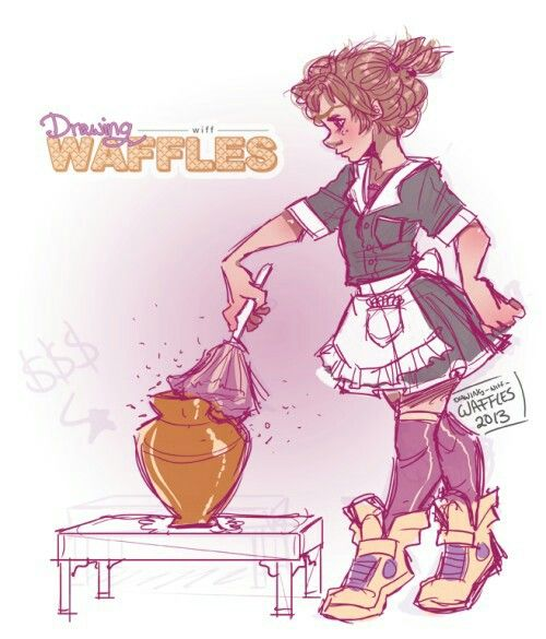 Reveal Wiff Face Waffles Drawing