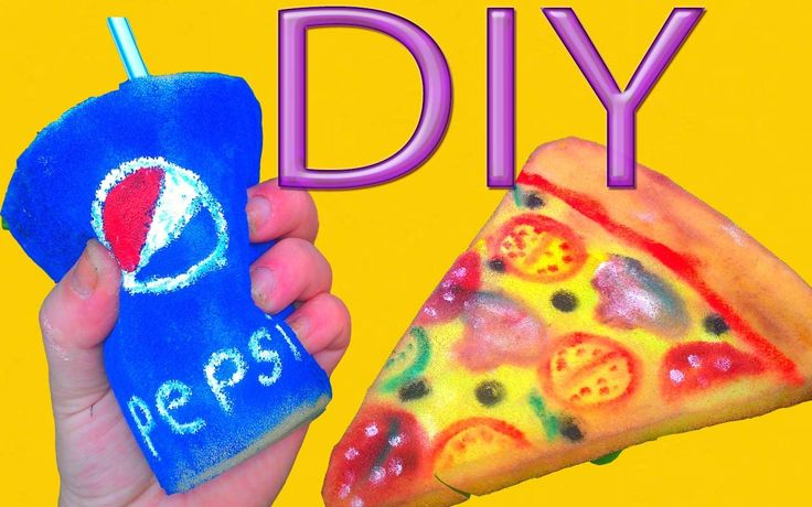 DIY PIZZA,PEPSI SQUISHY STRESS RELIEVER ~  Squishy Pizza,Pepsi Tutorial!...